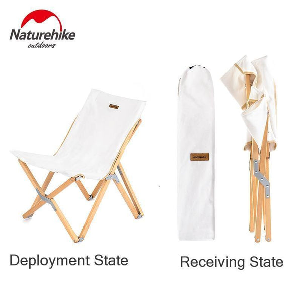 Naturehike 2019 New Outdoors Folding Wood Chair Portable Go Fishing Stool Fine Arts Living Sketch Chair Small The Bench Chair (Chair)