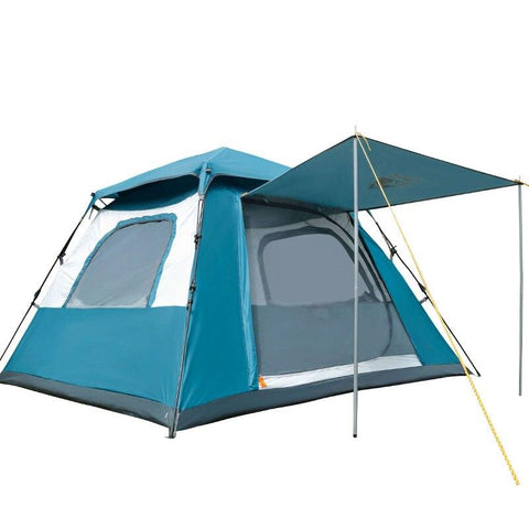 Outdoor Camping Beach 3-4 People Four-corner  Rainproof Breathable Automatic Fast Open Camping Sun Shade Tent