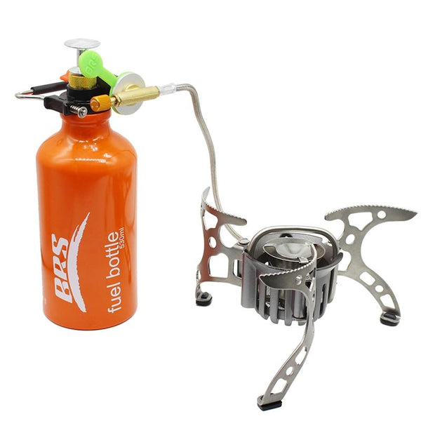 BRS Outdoor Portable Oil Gas Stove Cooking Cooker Multi Fuel Stoves Camping Cooking Stove For Backpacking Hiking Picnic brs-8 (White)