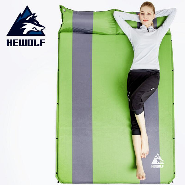Hewolf Automatic Inflatable Camping Mat Double Persons Widening Dampproof Splicing Sleeping Mat Tent Mat Outdoor Camping Travel