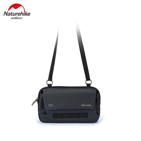 Naturehike String Bait Multi-functional Anti-Theft Outdoor Sports Fitness Crossbody Bag Travel Document Package NH20BB010 (Black)