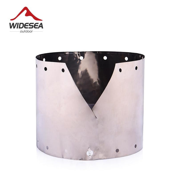 Widesea Titanium Ultra-light Wind Shield For  Gas-burner Alcohol Stove Portable Folding Camping Equipment Outdoor Cooking Guard