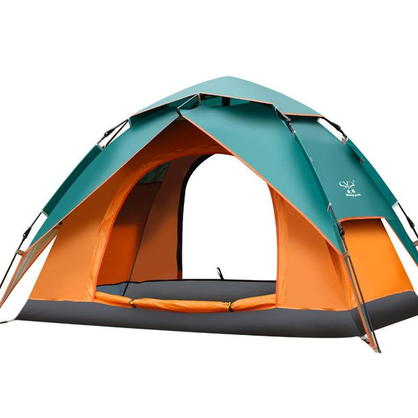 Automatic Hydraulic Camping Tent 3-4 Person Family Tent Double Layer Instant Setup Protable Backpacking Tent for Hiking Travel