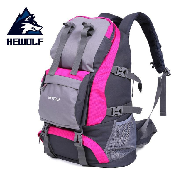 Hewolf Sport Bags Outdoor Climbing Bags Waterproof 32L Nylon Packsack for Men and Women Travel Hiking Camping Backpack