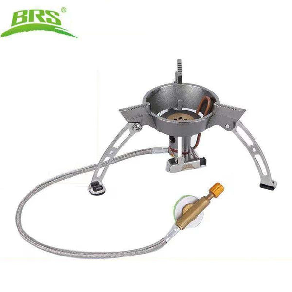 BRS Outdoor Gas Stove Camping Burner Gas Burner Wind proof Cookware Tourist Equipment Hiking Picnic Kitchen cylinder grill