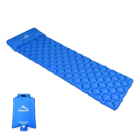 Widesea camping sleeping Pad Inflatable air mattresses outdoor mat furniture bed ultralight cushion pillow hiking trekking