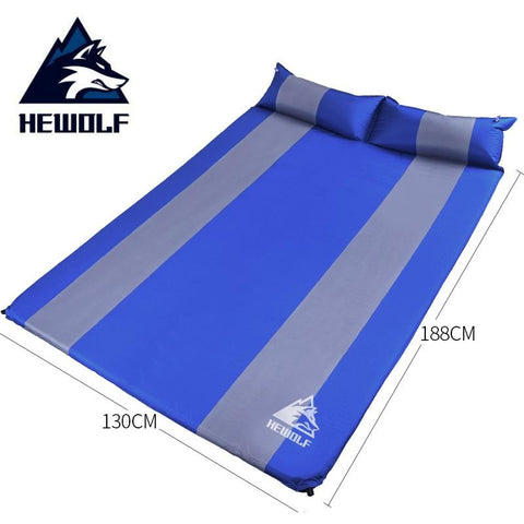 Hewolf 1-2 Person Thick 3cm Automatic Inflatable Mattress Beach Cushion Anti Moisture Pad Hking Picnic Outdoor Camping Mat