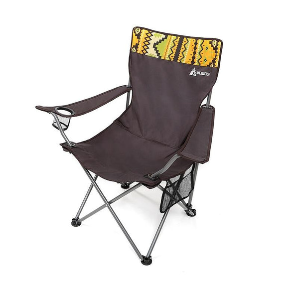 Travel Ultralight Folding Chair Superhard High Load Outdoor Camping Chair Portable Beach Hiking Picnic Fishing Chair (Brown)