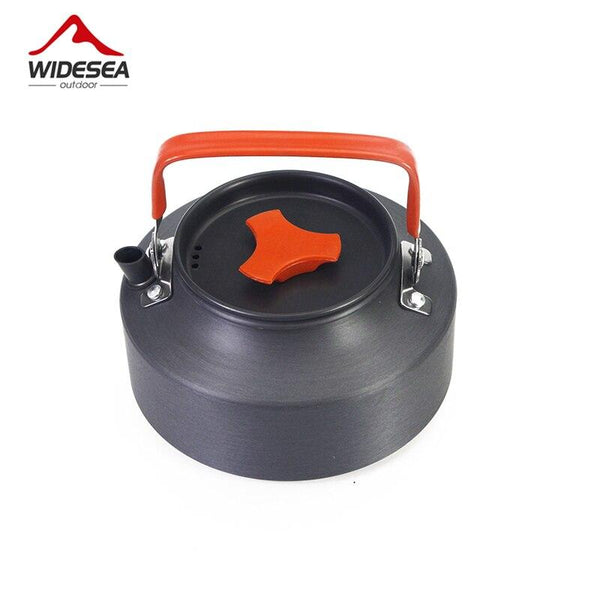Widesea 1.1L camping kettle outdoor coffee kettle camping tableware travel tableware outdoor picnic set