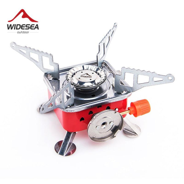 Widesea Gas Burner Camping Stove Tourist Equipment Lighter Outdoor Cooker Kitchen Propane Butane Gas stove Hiking Fishing