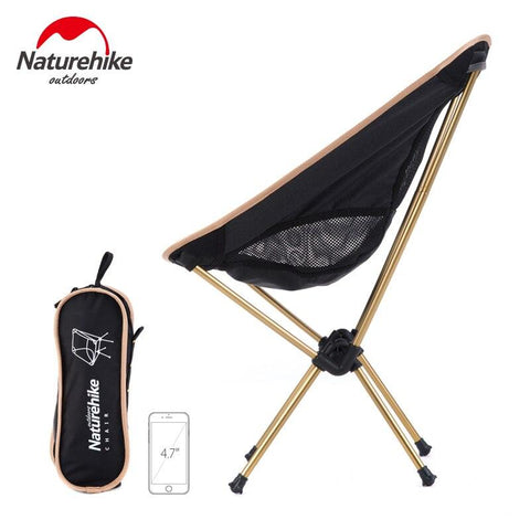Naturehike Moon chair Lightweight outdoor Beach Chair Folding Stool Camping small seat Portable Gardening Barbecue chairs