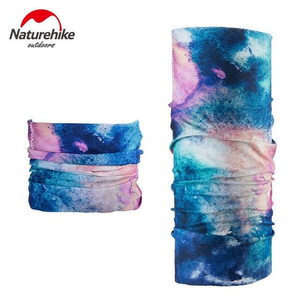 NatureHike Hiking Scarf magic elastic quick drying Hiking Scarves Headband Outdoor Camping Hiking Cycling Head Printing color