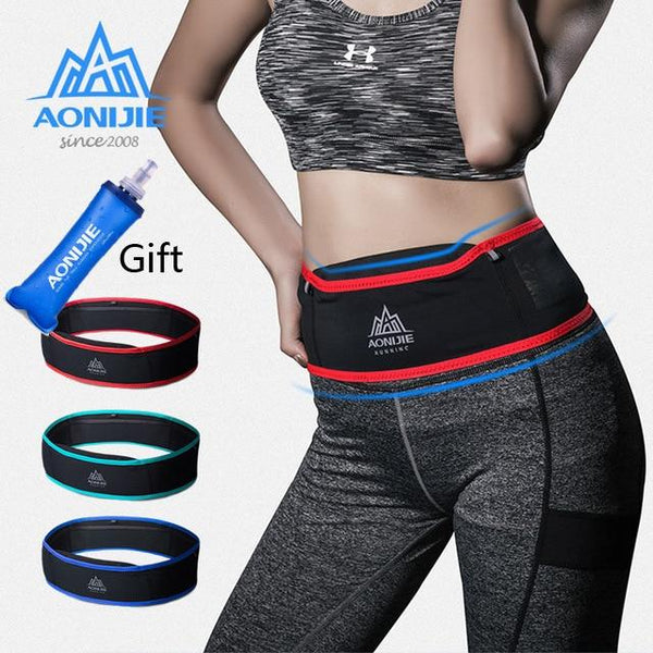 AONIJIE Slim Running Waist Belt Jogging Bag Fanny Pack Travel Money Marathon Gym Workout Fitness 6.9 in Mobile Phone Holder W938