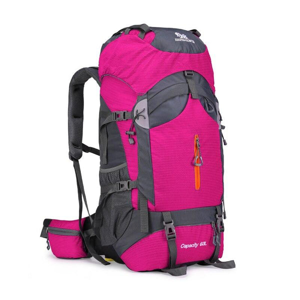 60L Camping Hiking Backpack Mountaineering Bag Large Capacity Trekking Rucksack Outdoor Backpack Hiking Camping Bags aluminum