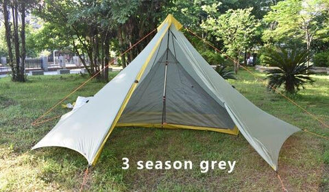 Ultralight Outdoor Camping Teepee double 20D Silnylon Pyramid Tent 1-2 Person Large Tent Waterproof Backpacking Hiking Tents