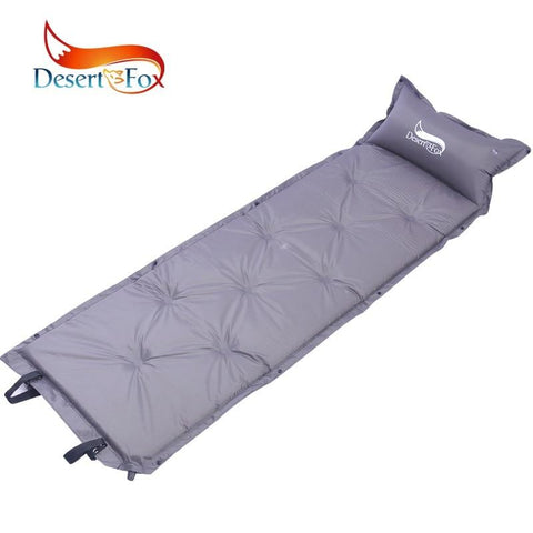 Desert&Fox 180 x 53 cm Self-Inflating Sleeping Pads with Pillow,Comfortable Tent Air Mattress Backpacking for Camping,Hiking