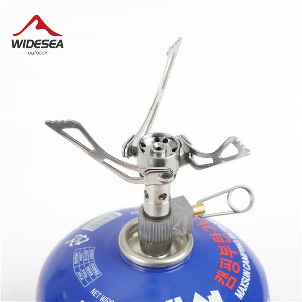 Widesea 40g 3000W Ultralight Mini Camping Stove Outdoor Gas Stove Survival Furnace Stove Pocket Picnic Cooking cooker Gas Burner