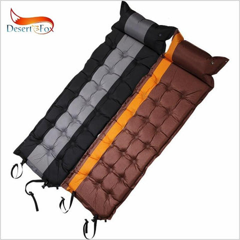Desert&Fox 1pc Self-Inflating Sleeping Pads with Air Pillow,186 x 62cm Tent Air Mattress Portable Lightweight Sleeping Pads