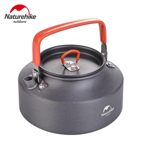 NatureHike 1.1 L Tableware Bowl Picnic Pot Camping Hiking Water Kettles Lightweight Cookware Aluminum Coffee Teapot (Black)