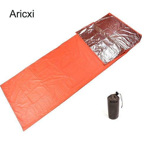 Emergency Mini Ultralight Width Envelope Sleeping Bag For Camping Hiking Climbing Single Sleeping Bag Keep You Warm + Pouch