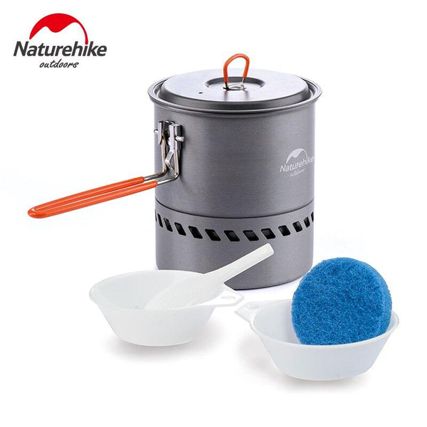 Naturehike Camping Cookware 2 Person hiking Pot family dinner Folding Pots Lightweight Picnic Pot Energy saving Pans