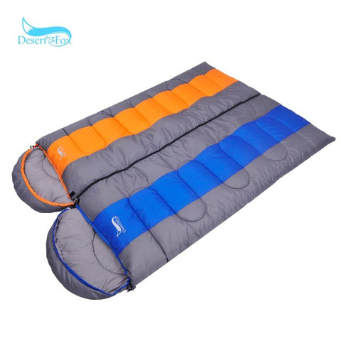 Desert&Fox 1pc Winter Cotton Sleeping Bag, 220x85cm Camping Warm Sleeping Blanket with Compression Sack for Hiking.Camping