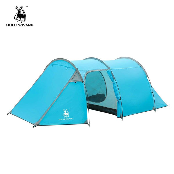 Ultralight Camping tent Waterproof 3-4 person Double Layer Tunnel tent Outdoor  hiking climbing large space Beach tents