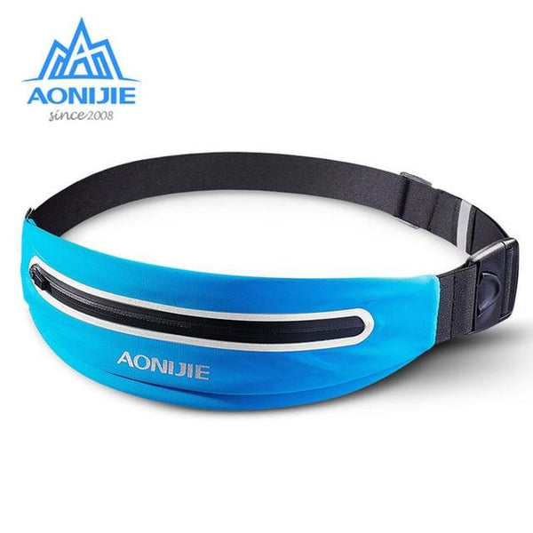 2018 AONIJIE Waterproof Sports Waist Bag Outdoor Running Waist Pocket Fanny Pack Cycling Hip Bag for Hiking Running Marathon