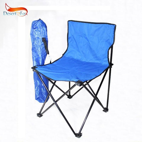 Desert&Fox Camping Foldable Chair Blue Fishing Chair, Folded Lightweight Portable Picnic Chair Outdoor Tableware Tools