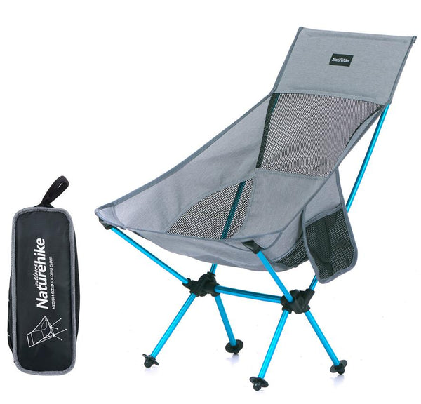 Lengthen Portable Fishing moon Chair Seat ultralight Folding Outdoor Camping Stool for Fishing Picnic BBQ Beach With bag