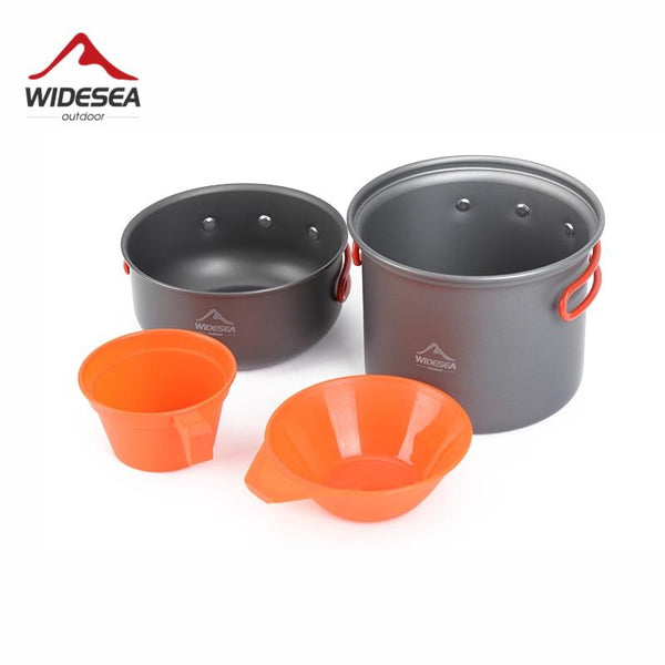 Widesea camping tableware cup bowl outdoor cooking set camping cookware travel tableware pincin set hiking cooking utensils (WSC103)