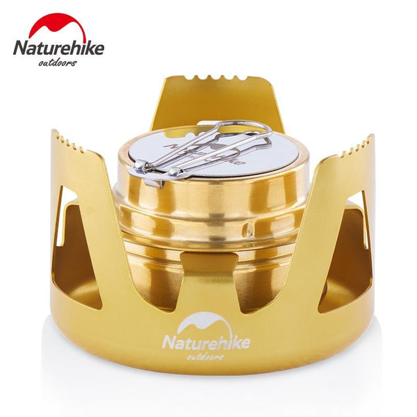 Naturehike Outdoor Portable Windproof Camping Field Alcohol Stove Furnace Cookware Gas Cookout Picnic Cooker