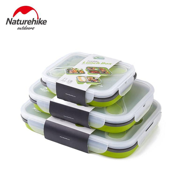 NatureHike Foldable Silicone Food Meal Boxes Portable Outdoor Picnic Sealed Preservation Food meal Container Food-grade health