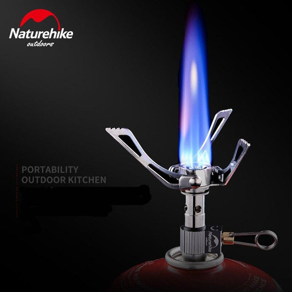 Naturehike Mini 40g Outdoor Camping Steel Stove Burner Collapsible Multi-function Ultra-light folding Stove high calories