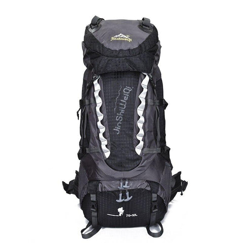 Camping hiking bag Outdoor Climbing Backpacks Waterproof Nylon Travel Sport Mountaineering Bags Zipper Hiking Backpack 80L