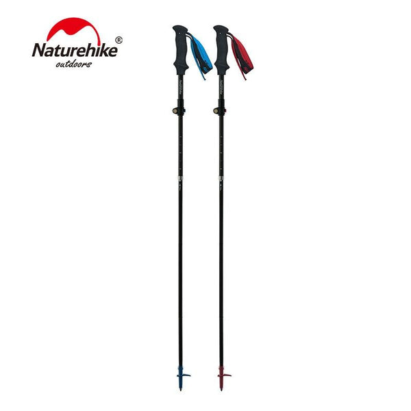Naturehike Ultralight 5-sections Foldable Adjustable Trekking Poles Carbon Fiber Walking Hiking Sticks NH18D010-Z