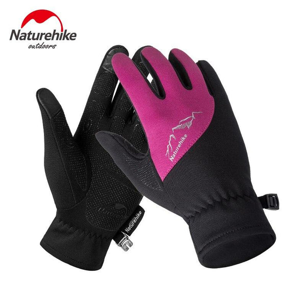 2018 Outdoor Sports Single-Sided Fleece Gloves Cold Warm Wear Touch Screen Running Gloves Male Female Winter Gloves NH17S004-T