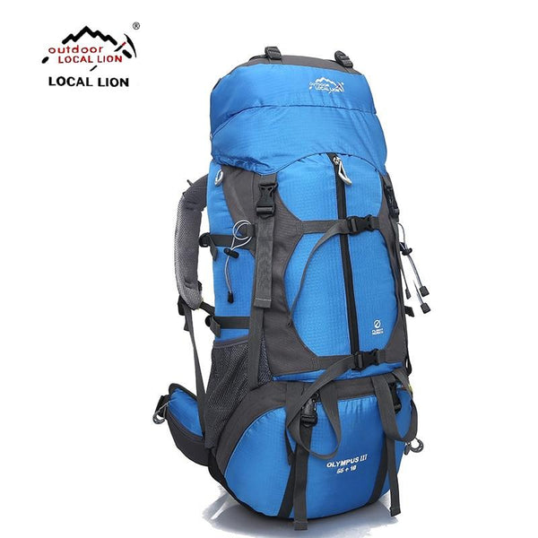 LOCALLION Outdoor Backpack 65L Outdoor Water Resistant Sport Backpack Hiking Bag Camping Travel Pack Climbing Rucksacks Hike