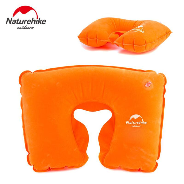 Naturehike Easy Carry Inflatable Neck Air Pillow Protect Headrest Car Flight Travel Pillow Soft Cushion Travel Kits