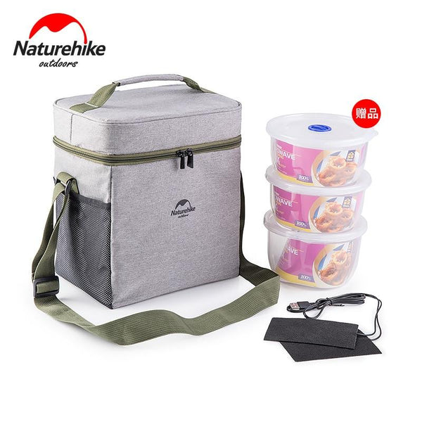 Naturehike Outdoor Picnic Bag Insulated Lunch Bag Insulated Thermal Bag with USB Heater Band