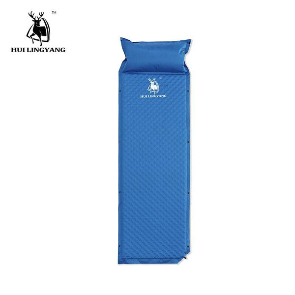 Outdoor Camping Mat  Pad Automatic Inflatable Single Person Mattress fishing Beach Stitching Mat Picnic Tent Mat With Pillow
