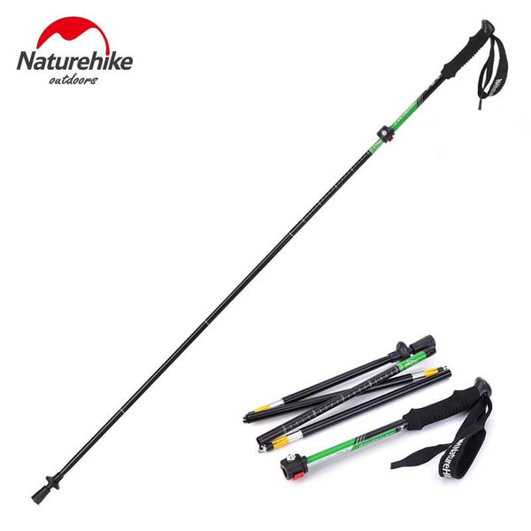 Naturehike Outdoor Walking Stick Climbing Rod Carbon fiberUltra Light 4 Section Telescopic Folding Trekking Pole Adjustable 280g
