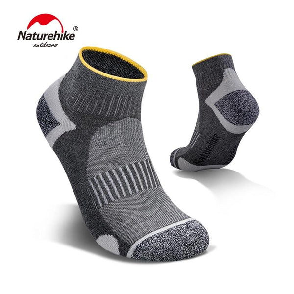 Naturehike 2 Pairs Sports Socks Male Female Breathable Cotton Socks Spring Summer Cycling Socks Fitness Running Socks NH19W005-Z