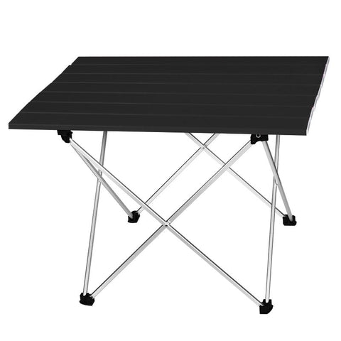 High Strength Aluminum Alloy Portable Ultralight Folding Camping Table Foldable Outdoor Dinner Desk For Family Party Picnic BBQ