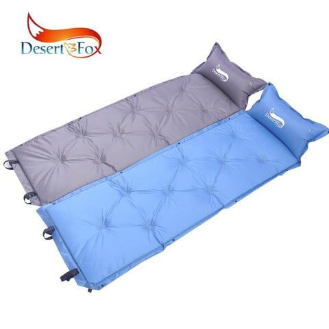 Desert&Fox 1pc Self-Inflating Sleeping Pads with Inflatable Pillow,Comfortable Tent Air Mattress Backpacking for Camping,Hiking