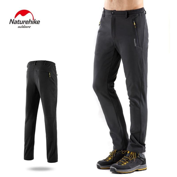 Naturehike Winter Men Women Hiking Pants Soft Shell Trekking Pants Waterproof Windproof Thermal Camping Ski pantalon tactico