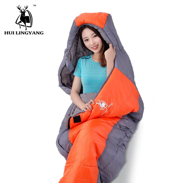 Ultralight Sport Hiking Sleeping Bags Outdoor Winter Camping Lightweight Cotton Adult Mummy 3-4 Season Waterproof Sleeping Bags