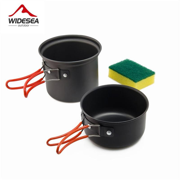 Widesea camping tableware outdoor cooking set camping cookware travel tableware pincin set hiking cooking utensils cutlery