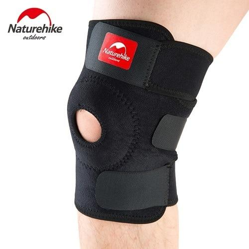 Naturehike Knee Pads Compression Knee Sleeve Knee Brace Support for Meniscus Tear Arthritis Quick Recovery Running NH15A001-M (Black)