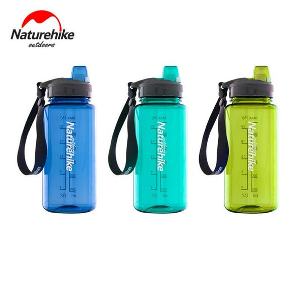 Naturehike 750ML 1000ML 360 Leakproof Sport Bottle Pcta Material TPE Nozzle Portable Outdoor Sports Cup NH17S010-B